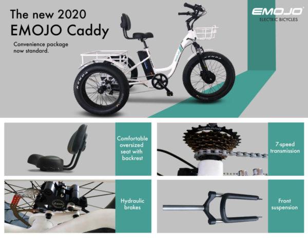EMOJO Caddy Pro Electric Fat Tire Trike