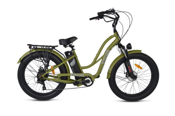 American Electric Steller Step-thru Army Green